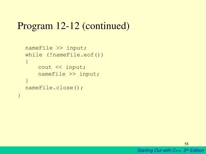 Program 12-12 (continued)