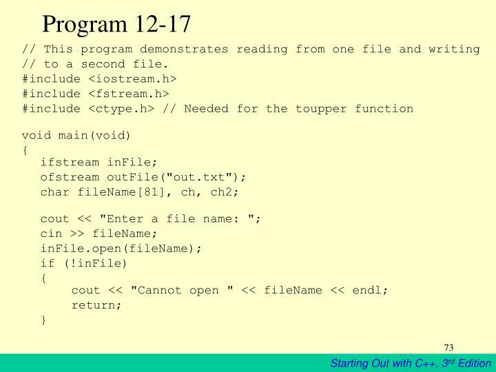 Program 12-17