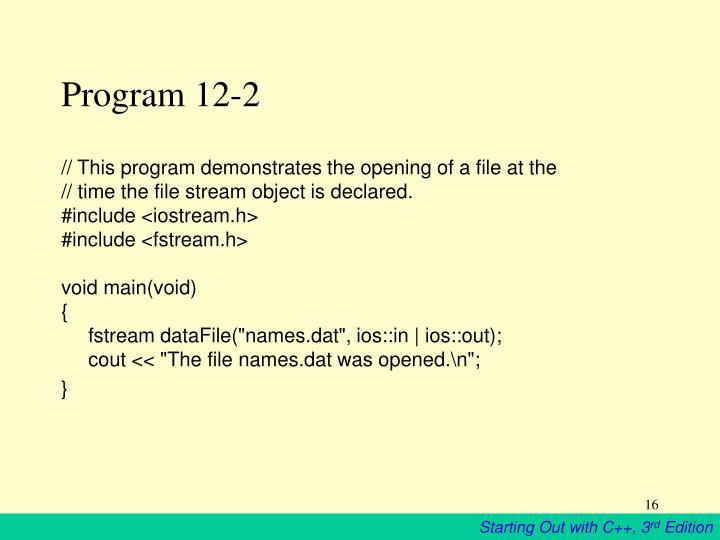Program 12-2
