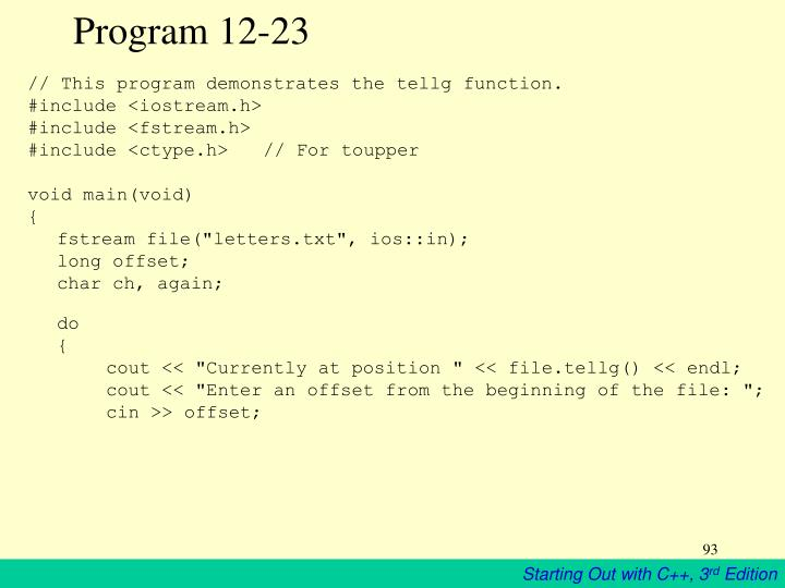 Program 12-23