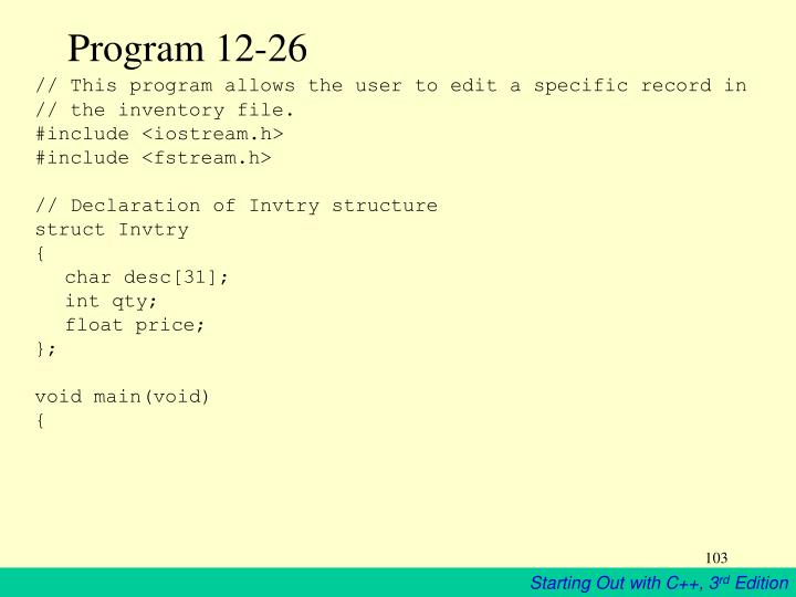 Program 12-26