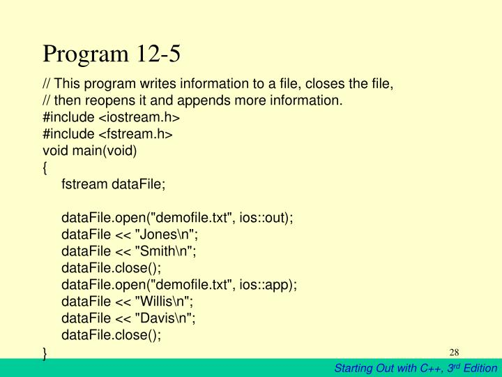 Program 12-5