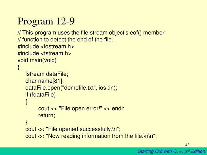Program 12-9