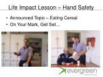 life impact lesson hand safety
