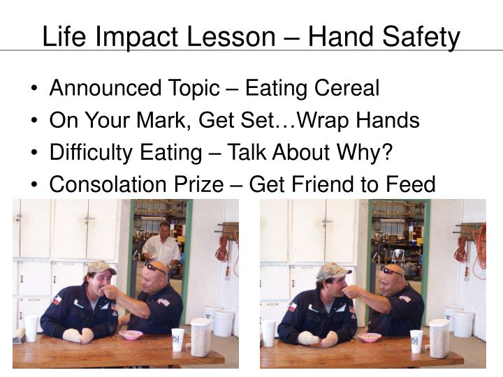 Life Impact Lesson – Hand Safety