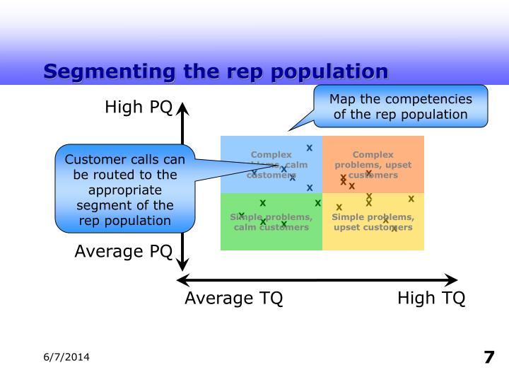 Segmenting the rep population