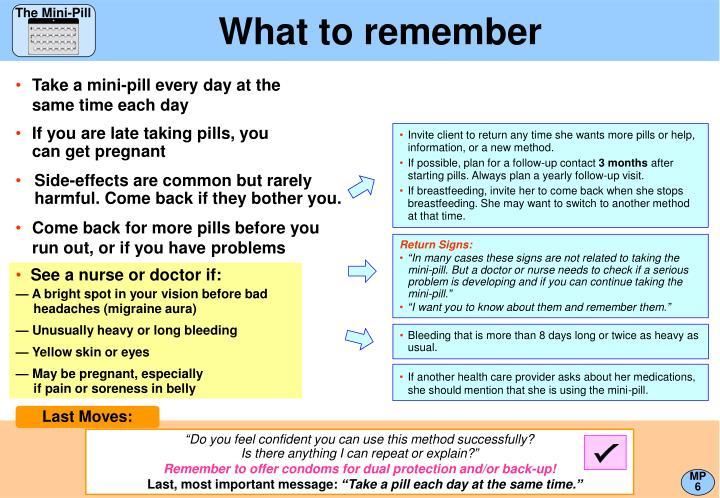 The Mini-Pill
