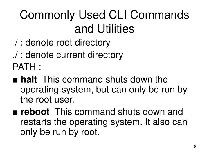 Commonly Used CLI Commands