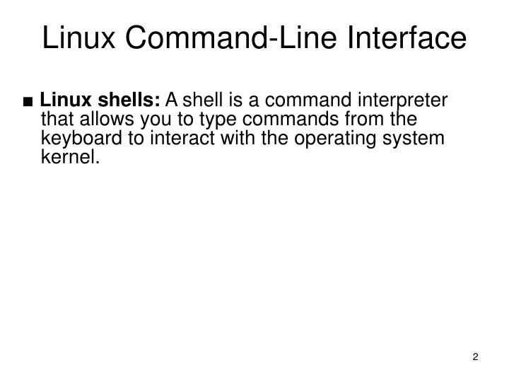 Linux Command-Line Interface