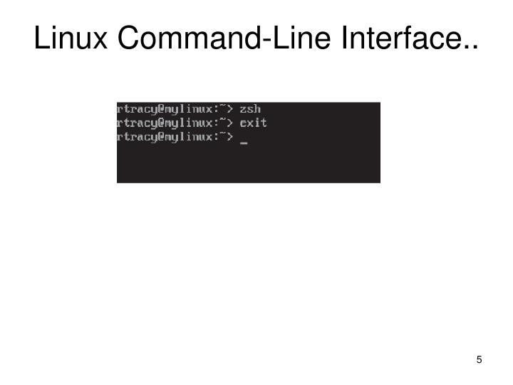 Linux Command-Line Interface..