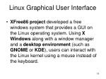 linux graphical user interface