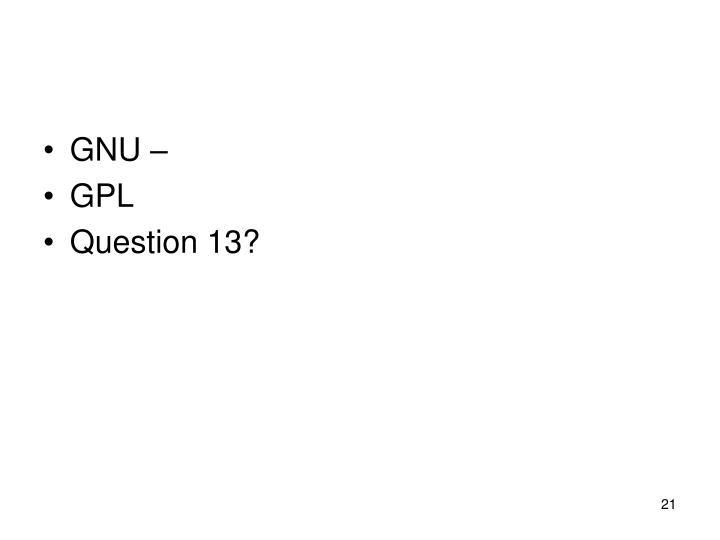 GNU –