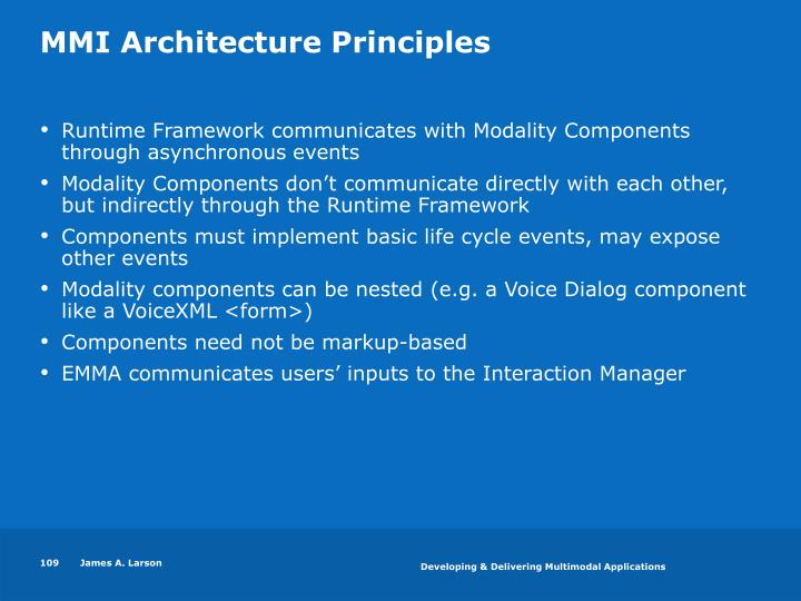 MMI Architecture Principles