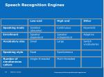 speech recognition engines