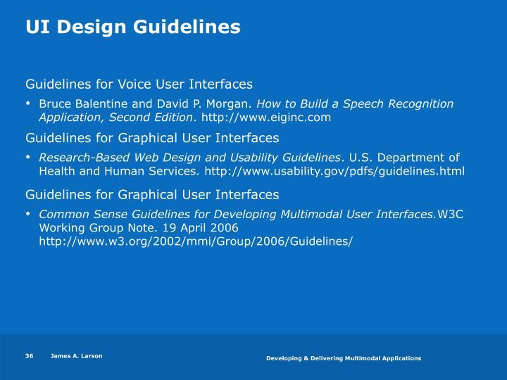 UI Design Guidelines