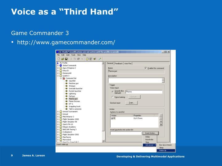 """Voice as a """"Third Hand"""""""