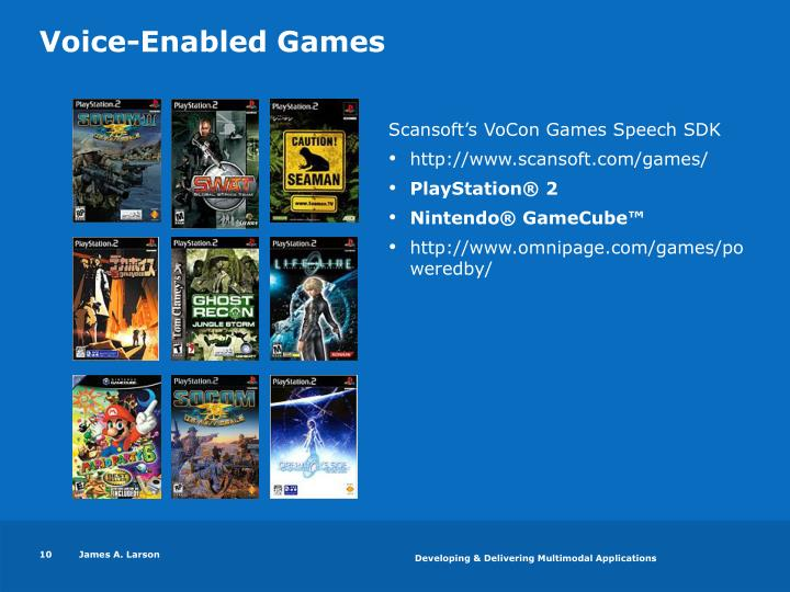 Voice-Enabled Games