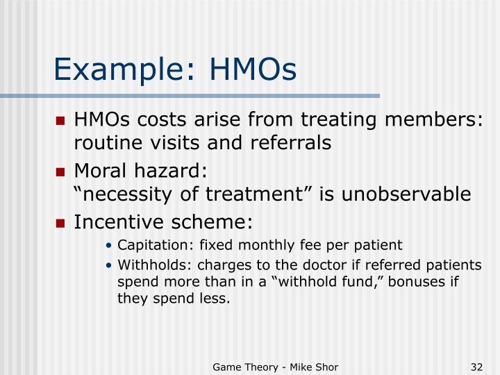 Example: HMOs