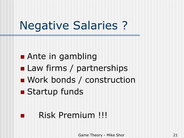 Negative Salaries ?
