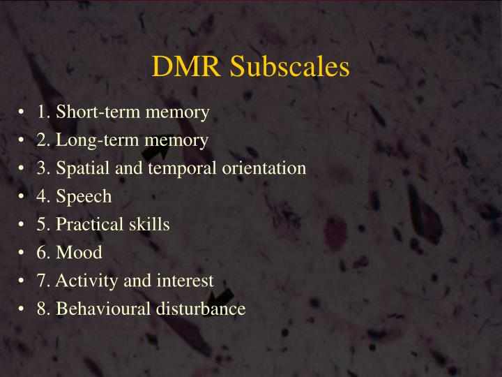 DMR Subscales