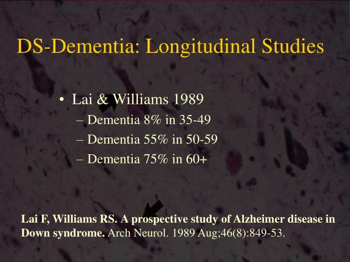 DS-Dementia: Longitudinal Studies