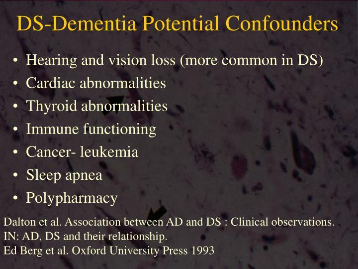 DS-Dementia Potential Confounders