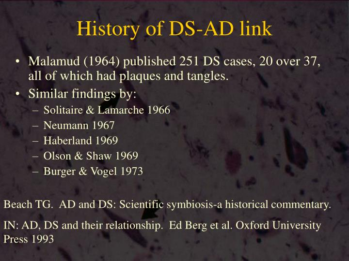 History of DS-AD link