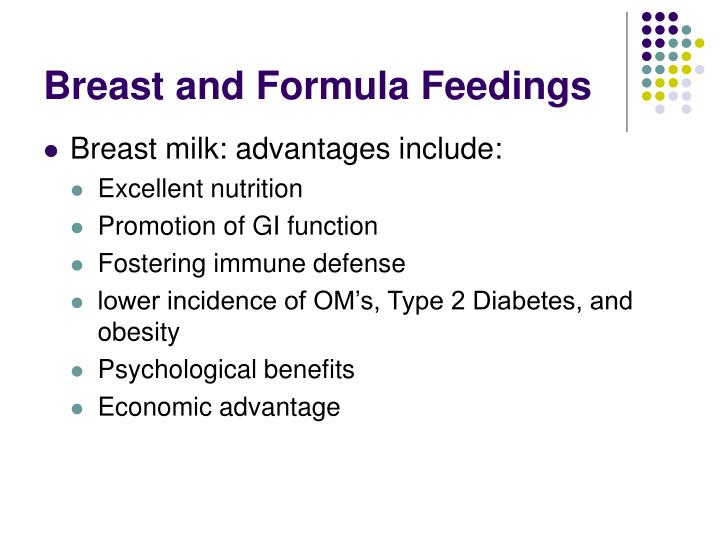 Breast and Formula Feedings