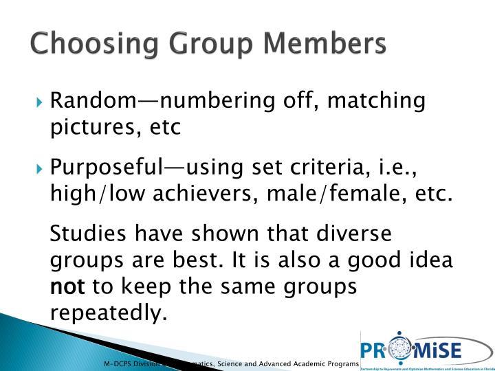 Choosing Group Members