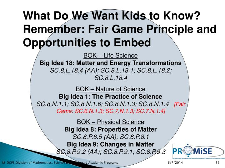 What Do We Want Kids to Know?