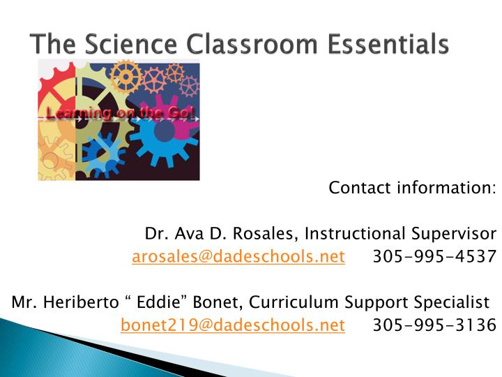 The Science Classroom Essentials