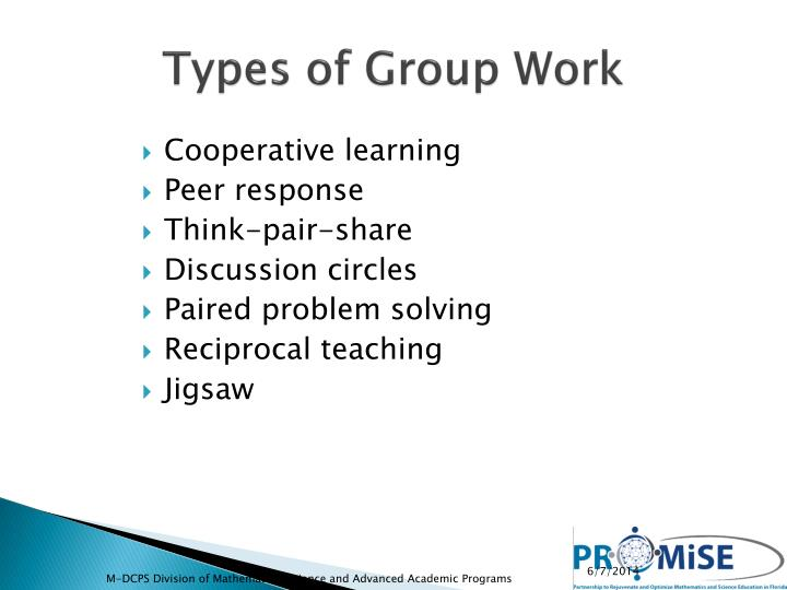 Types of Group Work