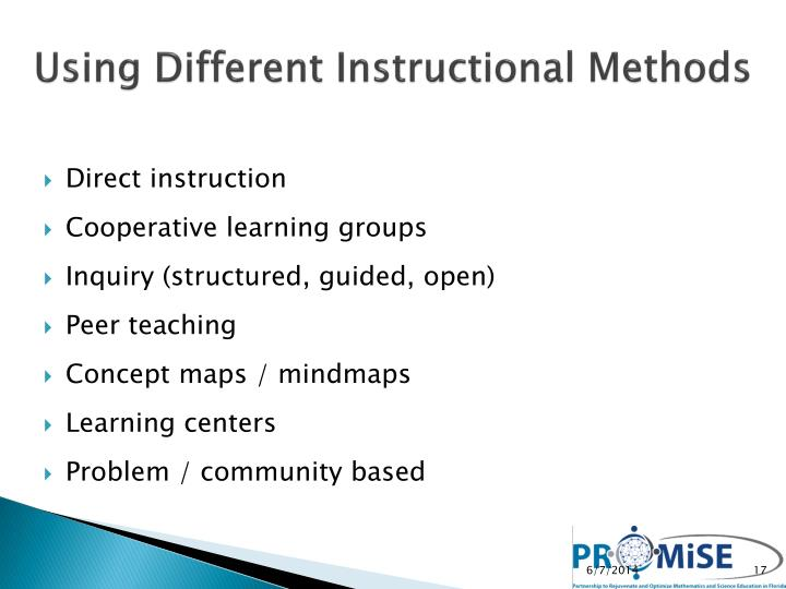 Using Different Instructional Methods