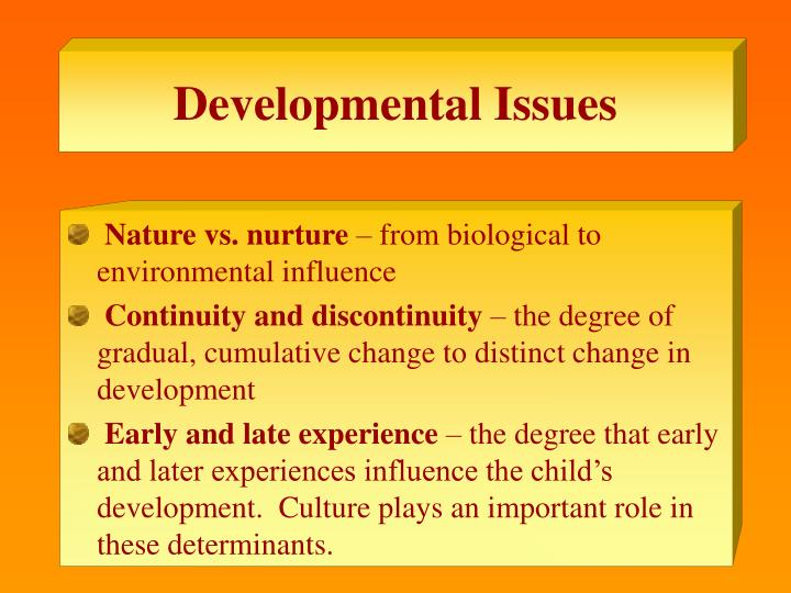 Developmental Issues