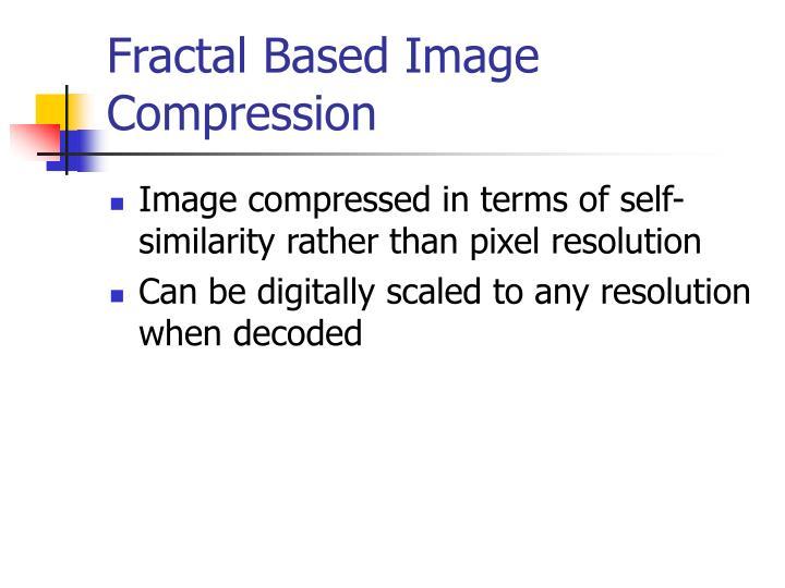 Fractal Based Image Compression