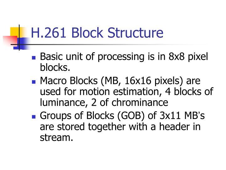 H.261 Block Structure