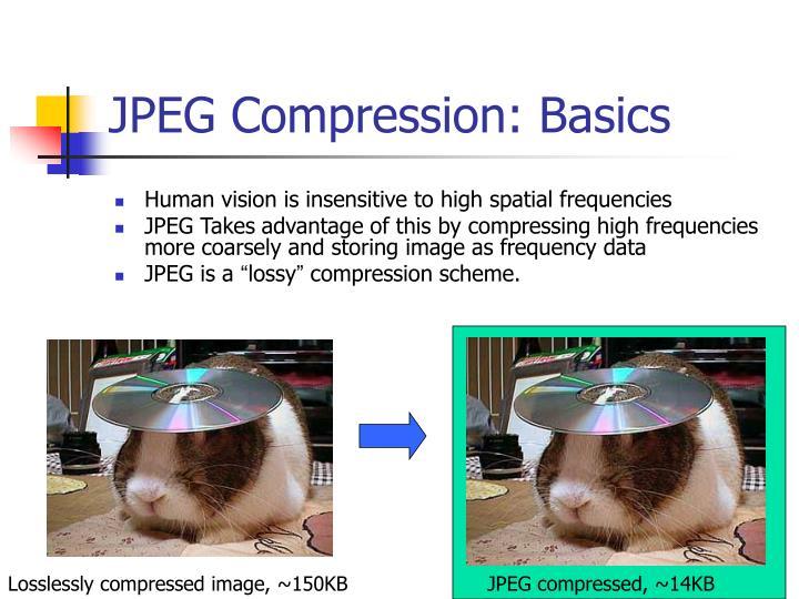 JPEG Compression: Basics