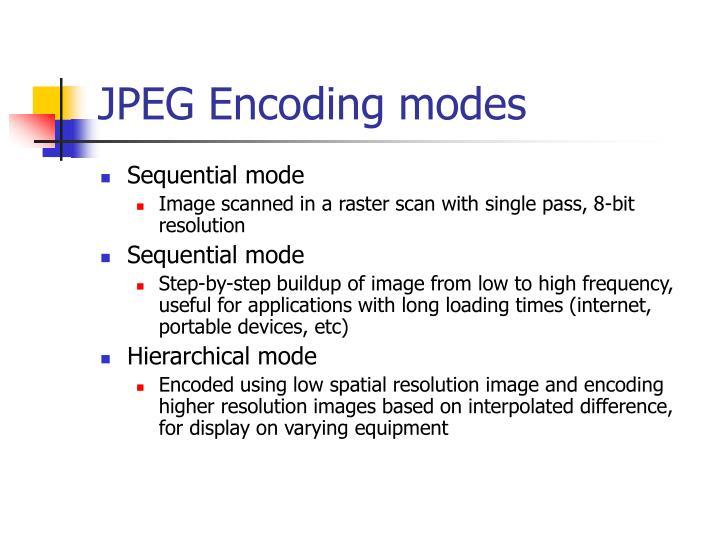 JPEG Encoding modes
