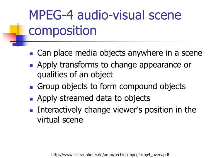 MPEG-4 audio-visual scene composition