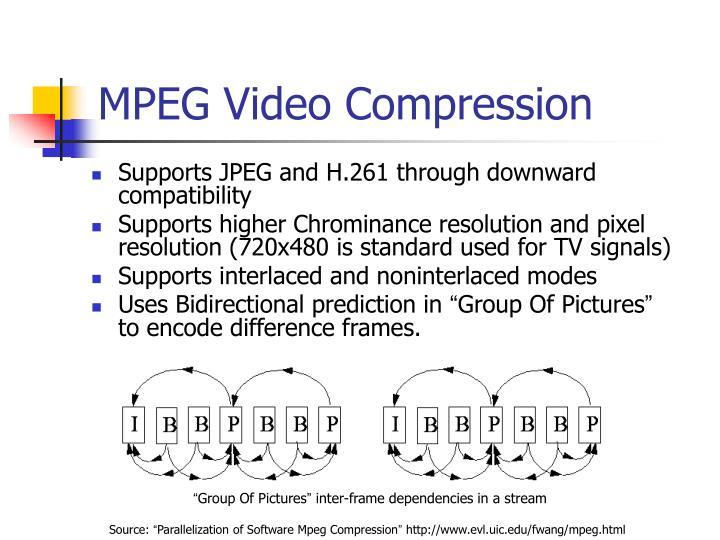 MPEG Video Compression