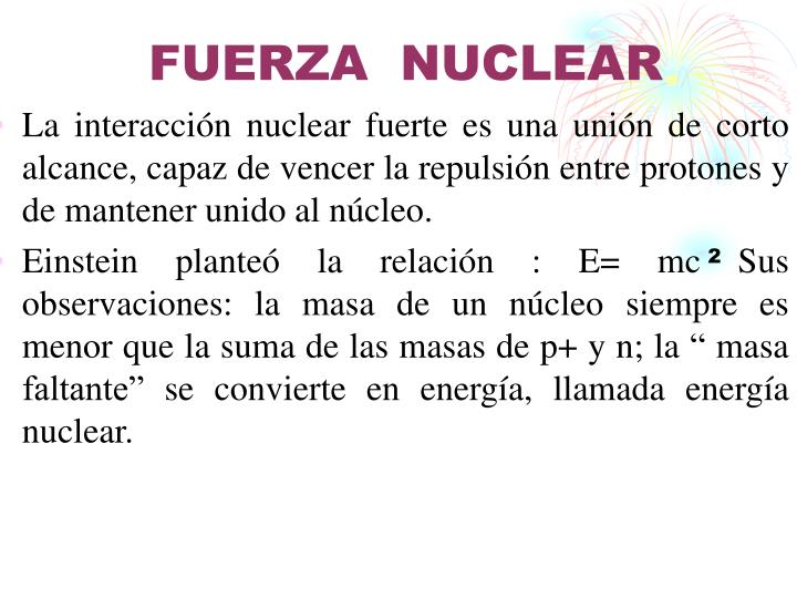 FUERZA  NUCLEAR