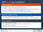 med v v1 key capabilities
