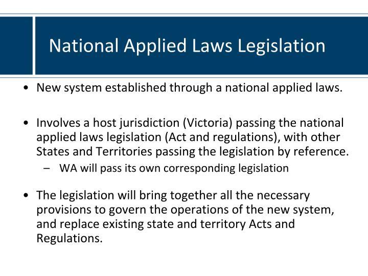 National Applied Laws Legislation