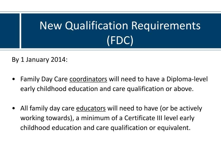 New Qualification Requirements