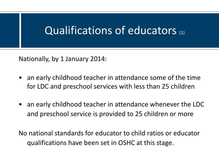 Qualifications of educators