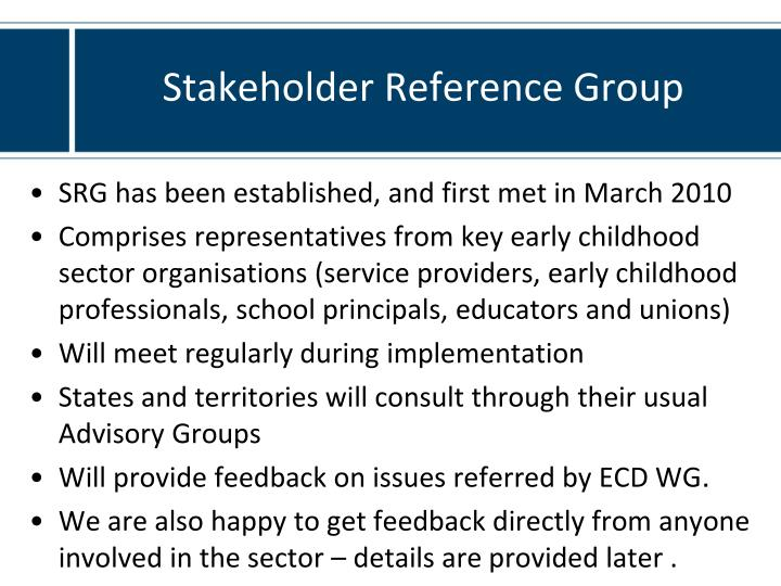 Stakeholder Reference Group