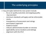 the underlying principles