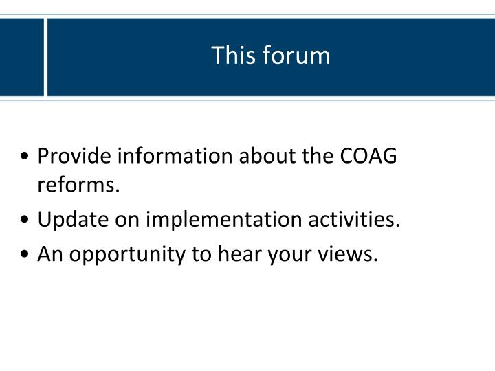 This forum