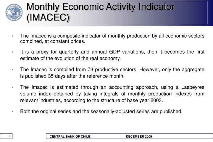 Monthly Economic Activity Indicator (IMACEC)