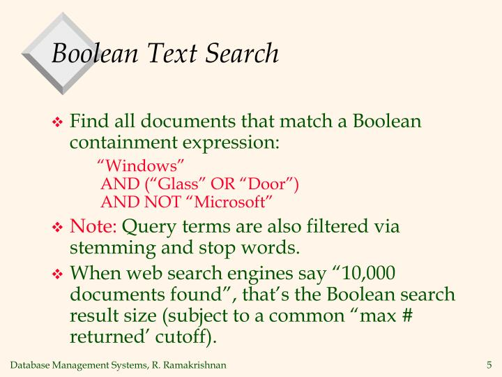 Boolean Text Search